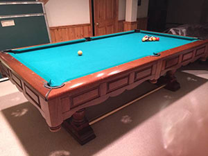 Kasson pool table prices pool table chicago new used for Prestige homes new brunswick